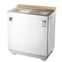 Duckling 小鸭 XPB100-25100S 半自动波轮双桶双缸洗衣机 (香槟色、10KG)