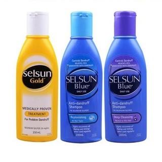 Selsun 洗发水 控油去屑止痒 黄瓶+蓝盖+紫盖 组合装 200ml*3瓶
