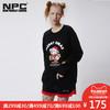NPC潮牌 CCISCOMING 圣诞印花卫衣男无帽套头红色长袖宽松情侣装 175元