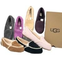 ?UGG Hailey 女款小羊皮豆豆鞋?