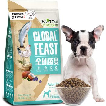 Nutrifresh 纯皓 三文鱼鸡肉益生菌 全犬粮 1.2kg *5件