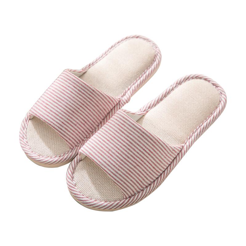 猪太帅 亚麻拖鞋 多色可选