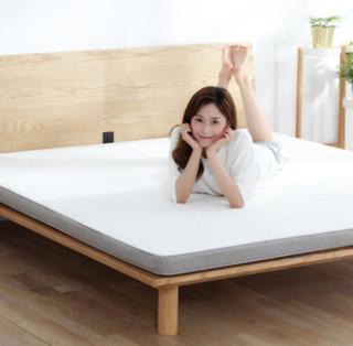 8H 乳胶床垫 可折叠床垫黄麻棕榈护脊偏硬薄席梦思900*1900mm