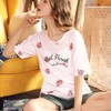 Miiow 猫人 MOU192009 女士短袖家居服套装 49元包邮(需用券)