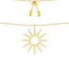 apm MONACO ETE系列 女士纯银镶晶钻太阳项链 金黄色 498.96元(需用券)