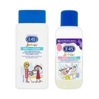E45 婴幼儿保湿润肤乳200ml+婴幼儿泡泡牛奶浴500ml