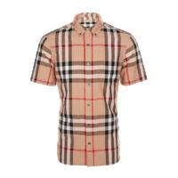 [支持自提]BURBERRY巴宝莉 新品男款梭织格纹短袖衬衫4015428