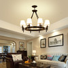 美式吊灯客厅灯简约现代大气家用乡村吸顶卧室灯创意餐厅书房灯具 359元