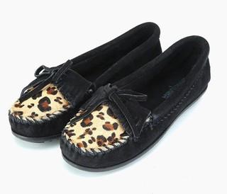 MINNETONKA 迷你唐卡 女士休闲豆豆鞋
