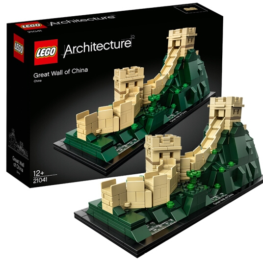 LEGO 乐高 建筑系列 21041 中国长城+多美卡合金小汽车*2
