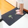 客厅地垫厨房脚垫卫生间浴室吸水防滑垫入户家用门口垫子卧室长方形门垫可剪裁 绣花款-发财树-黑灰色 40*60cm 9.9元