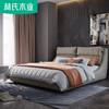 林氏木业 北欧布艺床1.8米储物婚床简约软包床主卧双人床组合R240 2880元