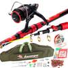 泰戈海竿钓鱼竿套装火狼3.0米碳素抛竿海杆渔具用品 99元