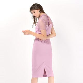 snidel 女蕾丝拼接连衣裙SWFO181044