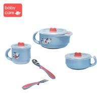 BabyCare 保温碗儿童餐具 科里灰-五件套