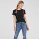 OLD NAVY 409743 女士纯色圆领短袖T恤