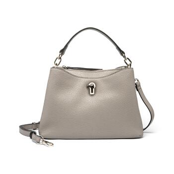 ELLE 她 女 简约气质软皮钥匙锁 女士手提包 E28F1280603GY 灰色
