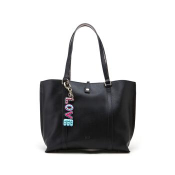 ELLE 她 女士 字母挂件大容量包 女士手提包 E28F1280895BK  黑色