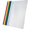 得力抽杆文件夹5901五色加厚资料收纳夹 可夹约80页(5个装) 12.5元