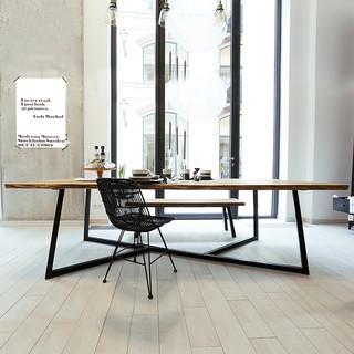 鸿运家居 北欧实木书桌 电脑桌 120*60*75*5cm 直边