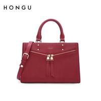 HONGU 红谷 女 包欧美时尚手提包 H5141245 深红