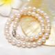 京润珍珠 致美 圆形银扣淡水珍珠项链 8-9mm
