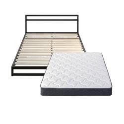 Zinus 际诺思 铁艺架子床+软硬两用天然乳胶弹簧床垫 150*200cm