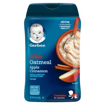 Gerber 嘉宝 婴幼儿米粉 进口版 227g 三段 苹果肉桂味 *5件