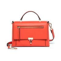 ELLE 她 女  拉链锁扣斜跨公文包手提包 E28F1280761RD 红色