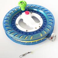百特 风筝线轮 折叠小摇把蓝轮+200米2股轮胎线