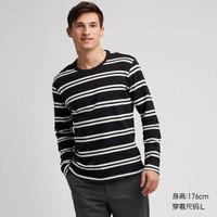 KtingHomme 男装 T恤长袖 (s、黑色)