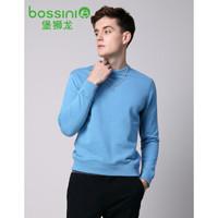 bossini 堡狮龙 3103010A1 男装休闲圆领长袖卫衣 (XL、蓝色)