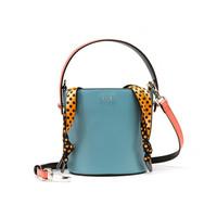ELLE 她 女 个性创意单肩包手提包 水桶包 E28F1280682BU 蓝色