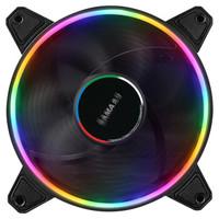 先马(SAMA)光环5 溢彩LED 12cm机箱散热风扇 双环彩色灯光/液压轴承 *3件