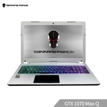 历史低价 : TERRANS FORCE 未来人类 T 系列 T1000-B-1070MQ-87SH2 15.6英寸游戏笔记本电脑 (银色、i7-8750H、512GB SSD+1TB、16G、GTX1070MAX-Q)