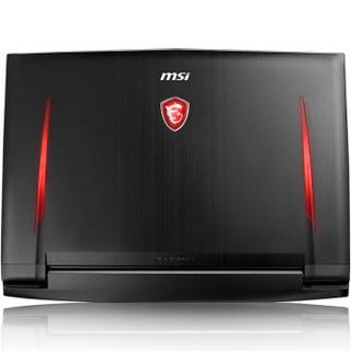 msi 微星 GT系列 GT75 Titan 8RG-271CN 17.3英寸游戏本笔记本电脑 (黑色、i7-8750H、1T、32GB、GTX1080)