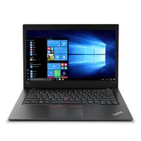 Lenovo 联想 ThinkPad L480 14.0英寸笔记本电脑 (i7-8550U、1TB+128GB SSD、8GB、AMD Radeon 530)黑色