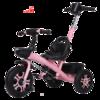 凤凰(Phenix) 儿童三轮车婴儿推车童车宝宝脚踏车1-3-6岁多功能脚踏车三轮车 粉色手推款 178元