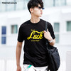 TRENDIANO男装夏装潮纯棉字母印花圆领短袖T恤3GC202372P 109元