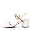 Belle/百丽夏新专柜同款米/绿胎牛皮革女皮凉鞋BYK33BL8 308元包邮(需用券)