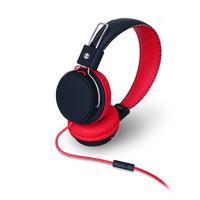 MQbix MQHT570 头戴式音乐重低音耳机可翻转伸缩笔记本耳机多色 红黑