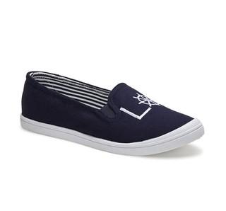 G.H. Bass & Co. GW9SF222 女士条纹帆布鞋一脚蹬