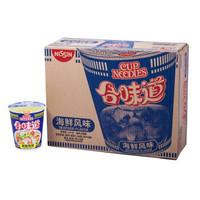 NISSIN 日清食品 日清合味道方便面 (1008g、海鲜味、箱装、12杯)