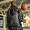 轻骑者 旅行抽绳帆布束口包袋水桶篮球包士户外运动训练健身背包男双肩包 363字母黑色