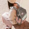 第九城(V.NINE) 双肩包女防水原宿旅行背包大容量15.6英寸电脑包校园撞色大中学生书包 VD7BV32881J 粉配灰