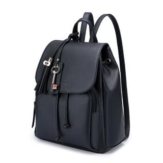 稻草人(MEXICAN)双肩背包女韩版潮女包背包MMN60785L-05黑色