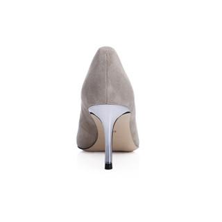 INTERIGHT 单鞋 女士中跟通勤鞋女鞋 皮鞋 杏色 38