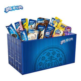 OREO 奥利奥 变形集装箱礼盒 (1250g、什锦口味、盒装、23小包)