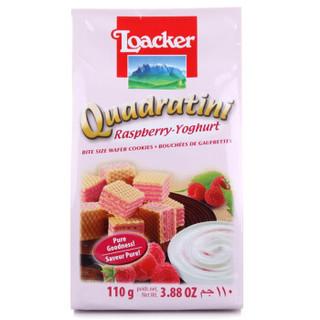 奥地利进口 莱家loacker威化饼干覆盆子酸奶味夹心粒粒装110g