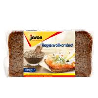 德国进口 捷森(jason)黑麦全麦面包500g 饼干蛋糕 早餐吐司代餐主食轻食面包 粗粮低脂饱腹食品 健身餐 *4件
